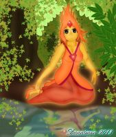 Flame Princess' Reflection by DannimonDesigns