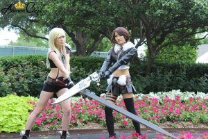 Final Fantasy Cosplay: Female Cloud/Female Squall by AurumCosplay