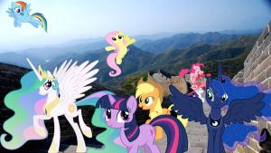 Ponies Visit The Great Wall Of China by Mr-Kennedy92