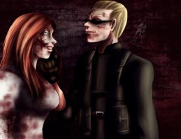 Commission: Shakahnna and Wesker by Maou-MaoXD