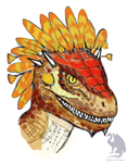 Autumnal argonian portrait by Flying-With-Dragons