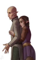 Commission: Bellanaris and Solas by Nikranel
