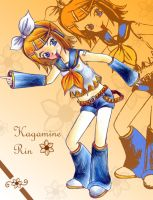 Kagamine Rin Smile by omgOVER9000