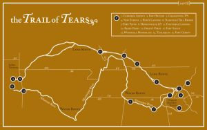 trail of tears map by unclone