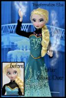 repainted ooak transformation let it go elsa doll. by verirrtesIrrlicht