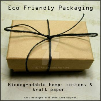 Eco Packaging With Text Graphic by 1337-Art