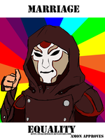 Gay Marriage - Amon Approves by Atakamiwolf