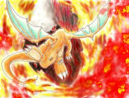 Charizard the fire dragon by darknight0x0