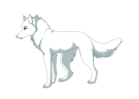 Wolf Template Collaboration 2 by kissawolf