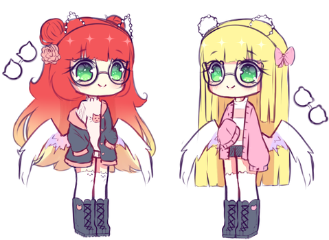 [OPEN 1/2] Random Adoptables Twins - set price by Seraphy-chan
