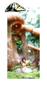 Fairies and Mushrooms by tacit-chaos