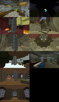 minecraft builds. by s1lverb0a