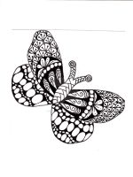 Butterfly Zentangle by ZentangleClare