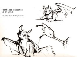Toothless Sketches by Dreamsoffools