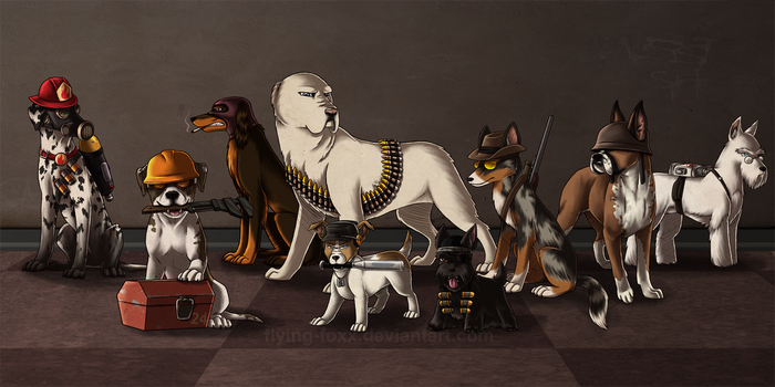The Dogs of TF2 by Flying-Foxx