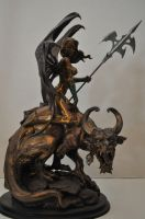 Faux Bronze Dragon Rider by AntWatkins