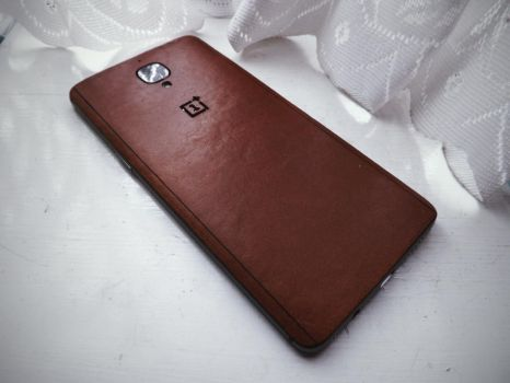 OnePlus 3T + Dark Brown Leather skin by OhayouBaka