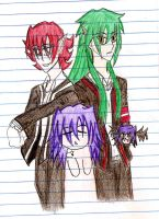 """Trio Vampy""""Nocturne""""Characters by Usagi-Moni"""