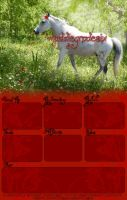 Red Flowers - Layout by HoofBeat-Graphics