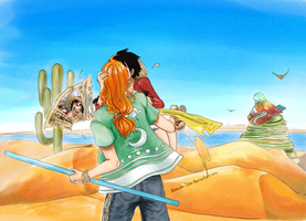Luffy x Nami :: Art Trade - Stromer by Opirou