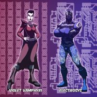 Violet Vamphyri and Electrosys by Juggertha