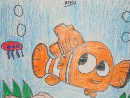 Nemo drawing in colored pencil by MewMewMinto1123