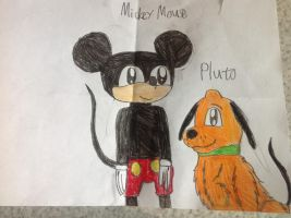 Mickey Mouse and Pluto by Anastasia6710