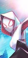 Spider Gwen Panel Art by RichBernatovech
