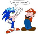 Mario and Sonic by Jeibi