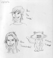 Webcomic Fanart Sketches by Hunchdebunch
