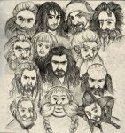 The Hobbit-Dwarves by ekocentric