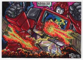 Transformers G1 IronHide Commission Card by fbwash