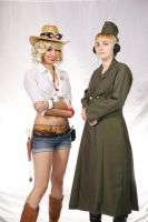 Taiyou Con 2013 Nyotalia- America and Germany by sammaclausegamgee