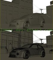 Ford_Focus_wireframe_mesh by jomet