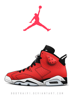 Air Jordan 6 'Toro' by BBoyKai91