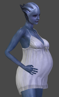 Liara Pregnant DL by TheRaiderInside