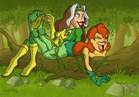 Rouge and poison ivy pic 02 by JinksLizard