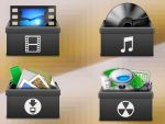 Box Stack Icons Set by h0userche