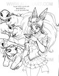ChibiUsa the Ring n Turtles by alaer