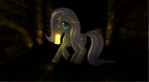 Fluttershy in amnesia by AngelofHapiness