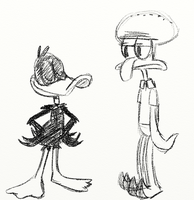 Daffy and Squidward by NatalieTheAntihero