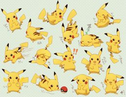 Pikachu's Emotions by POKEFLAME500