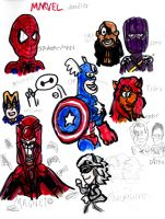 Marvel Doodles by SonicClone