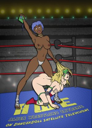 Victoria Pegaduro in Alien Wrestling Extreme by Chickfighter