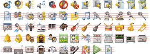 32x32 Music Icons by Ikont