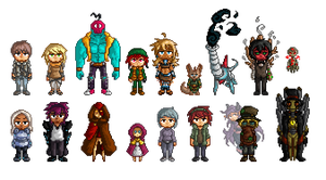 Walking Citizens Pixelart by Seikame