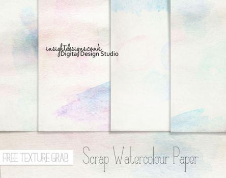 Free Scrap Watercolour Paper textures by Mephotos