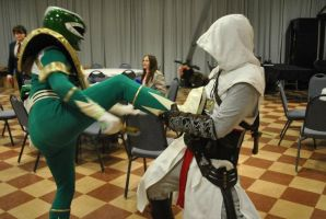 Green Ranger Vs Altair by Paladin0