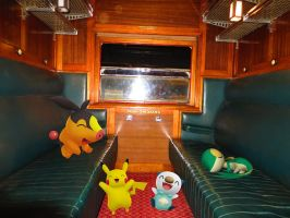 Pikachu and Unova friends on the train! by ryanthescooterguy