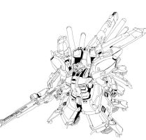 s gundam plus booster by superwalkingzombie